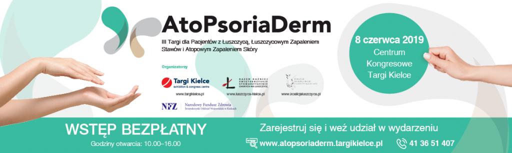 AtoPsoriaDerm 2019 – z troski o chorych na łuszczycę, ŁZS i AZS