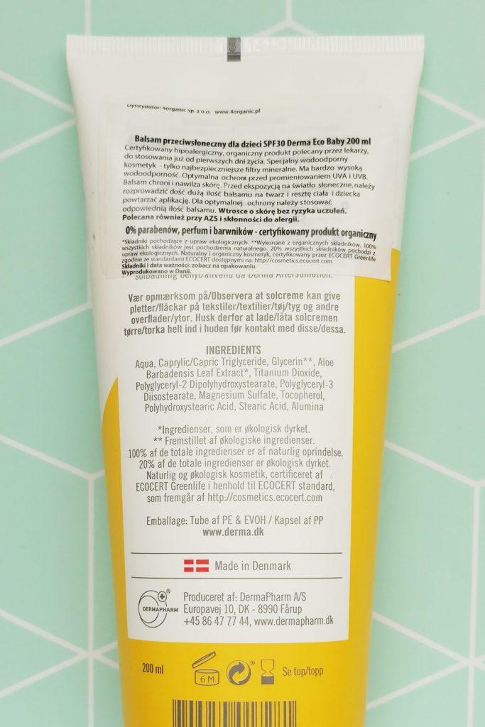 Derma Eco Baby Mineralny Filtr UV SPF 30