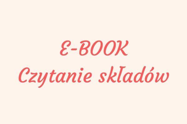Ebook czytanie składów kosmetyków